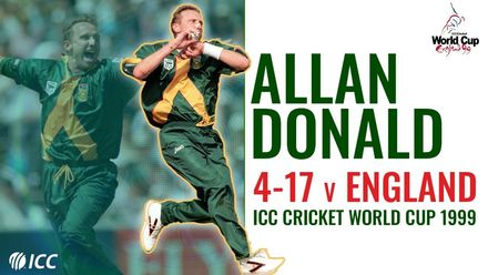 Allan Donald rips through England with 4/17 | Men's CWC 1999