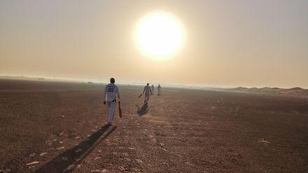 You've heard of beach cricket but have you ever played desert cricket? Location: Dubai, UAE. Photo credit: Muhammed Nishad