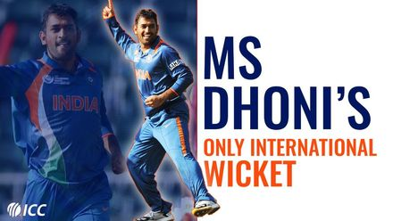 When MS Dhoni turned bowler! |  Bowlers Month