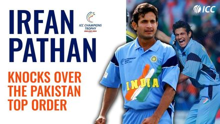 Irfan Pathan rattles Pakistan top order | CT 04