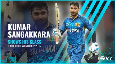 Sangakkara shows his class | Four consecutive tons at CWC 15