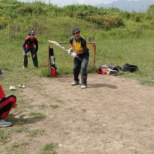 No matter where you're playing cricket, proper protection is important. Location: Kirtipur, Nepal. Photo credit: Sabin Koirala