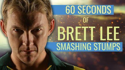 'He's bowled him' feat. Brett Lee