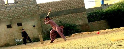 The pitch might take some turn. Location: Lasbela, Balochistan. Photo credit: Sirtaj Baloch Rakhshani