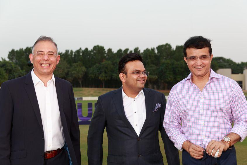Jay Shah, Manu Sawhney, Sourav Ganguly