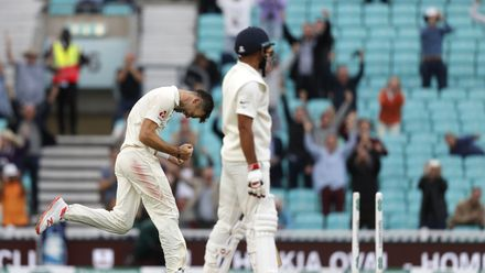 Anderson bowled Mohammed Shami to claim his 584th wicket, surpassing Glenn McGrath to become the leading Test wicket-taker among quick bowlers – 11 September 2018