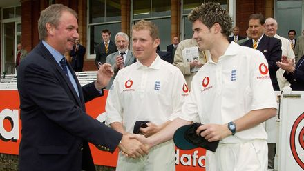 Anderson recieves his first Test cap from David Graveney – 22 May 2003
