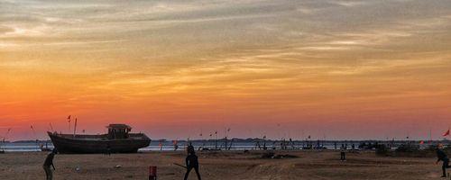 Looks like a spin-friendly pitch! Location: Jakhau Port, Gujarat. Photo credit: Neil Sathwara