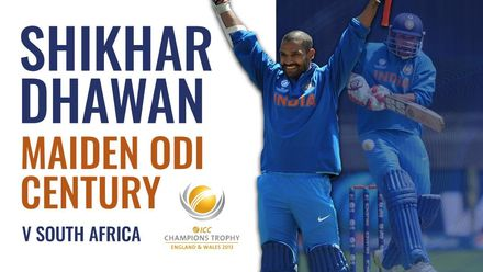 Shikhar Dhawan smashes his maiden ODI century | ICC Champions Trophy 2013