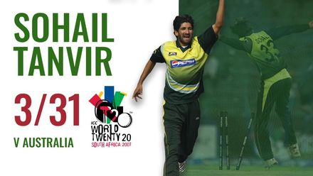 Sohail Tanvir rips out three Aussie wicket | ICC Men's T20WC 2007