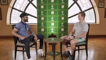 Steve Smith and Virat Kohli catch up | AUS v IND