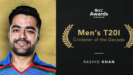 Rashid Khan is the ICC Men's T20I Cricketer of the Decade