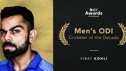 Virat Kohli is the ICC Men's ODI Cricketer of the Decade