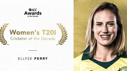 Ellyse Perry is the ICC Women's T20I Cricketer of the Decade