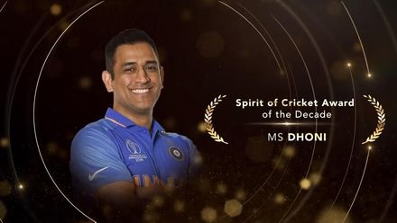 ICC Spirit of Cricket Award of the Decade: MS Dhoni