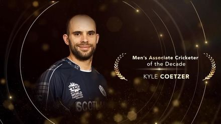 ICC Men's Associate Cricketer of the Decade: Kyle Coetzer