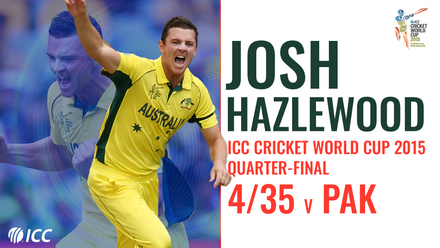 Hazlewood special knocks out Pakistan