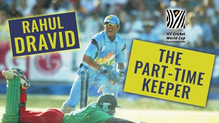 Team-man Dravid stars as keeper in '03 World Cup