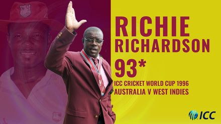Richie Richardson with a captain's knock in the 1996 World Cup