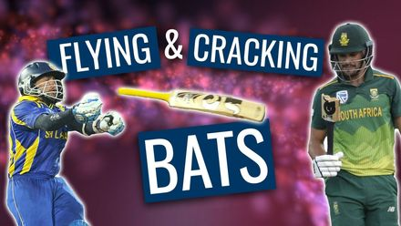 Flying, breaking and cracking bats!