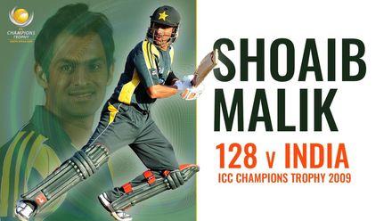 Shoaib Malik smashes 128 v India | Champions Trophy 2009