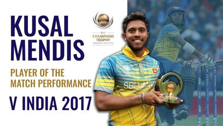 Kusal Mendis 89 helps Sri Lanka score big Champions Trophy win over India