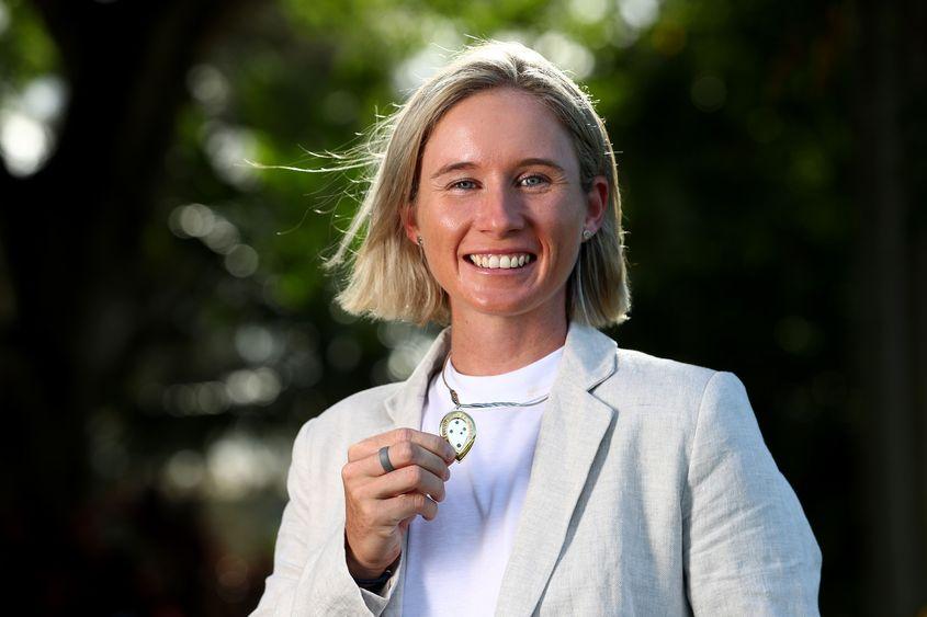Beth Mooney  scraped past captain Meg Lanning to win the Belinda Clark Award