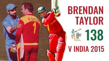 Brendan Taylor's stunning ton from 2015 CWC
