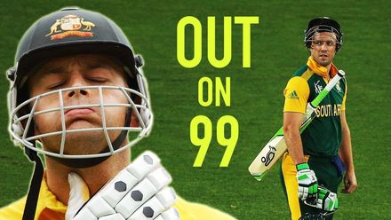 Stranded on 99 – When batsmen were left one crucial run short