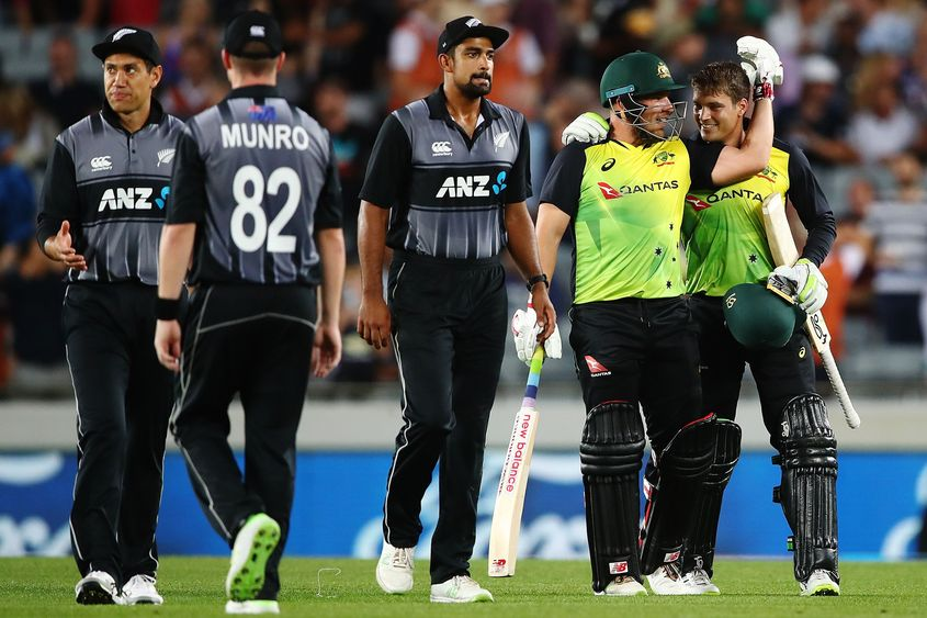 Australia pulled off a record run chase last time they toured New Zealand.