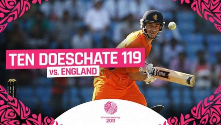 CWC11 | Ryan Ten Doeschate hits incredible century vs England