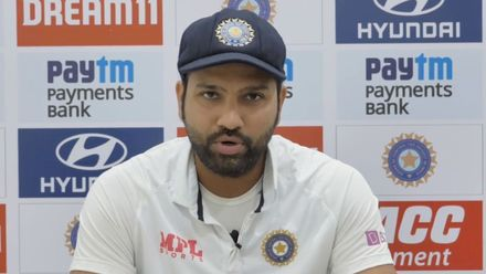 Rohit Sharma on the pink ball, the pitch and Ashwin's milestone