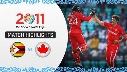 CWC11: M12 Zimbabwe spinners finish off Canada after tremendous Tatenda Taibu innings