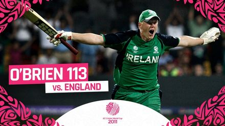 CWC11 | O'Brien blazes fastest century in Cricket World Cup history