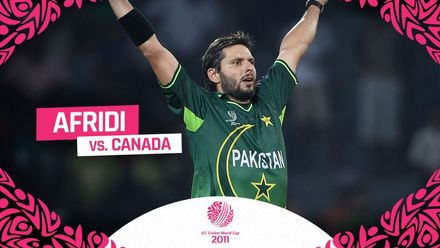 CWC11 | Afridi's all-action performance against Canada