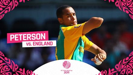 CWC11 | Peterson's brilliant bowl and catch against England