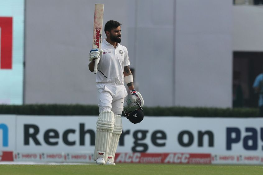 Virat Kohli scored a century in his first day-night Test.
