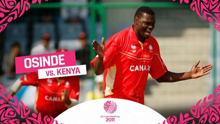 CWC11| Henry Osinde was Canada's hero as he tore through Kenya's top order