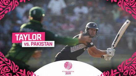 CWC11 | Ross Taylor launched an assault on Pakistan as New Zealand take the win