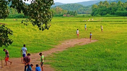 When the outfield is more interesting than the pitch. Location: Painkulam, Kerala, India. Photo credit: Eruppalath Subrahmanian