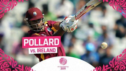 CWC11: Pollard smashes 94 in 55 balls vs Ireland