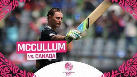 CWC11: Brendon McCullum's century helped put the score well out of reach for Canada
