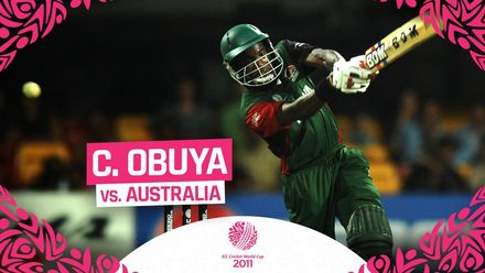 CWC11: Collins Obuya's unbeaten 98 earns him highest score by a Kenya batsman and country pride