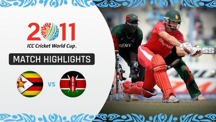 CWC11: M41 Ervine helps Zimbabwe win big against Kenya