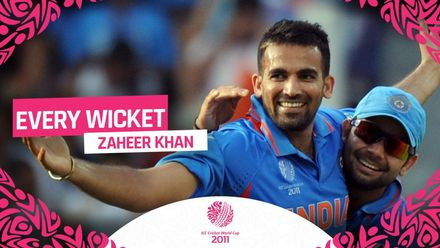 CWC11: Zaheer Khan wickets collection