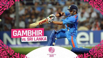 Gambhir's steady 97 lays winning foundation for India | #CWC11Rewind