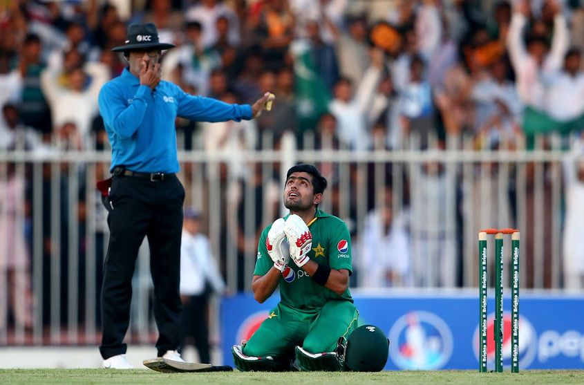 A moment to remember for Babar Azam.