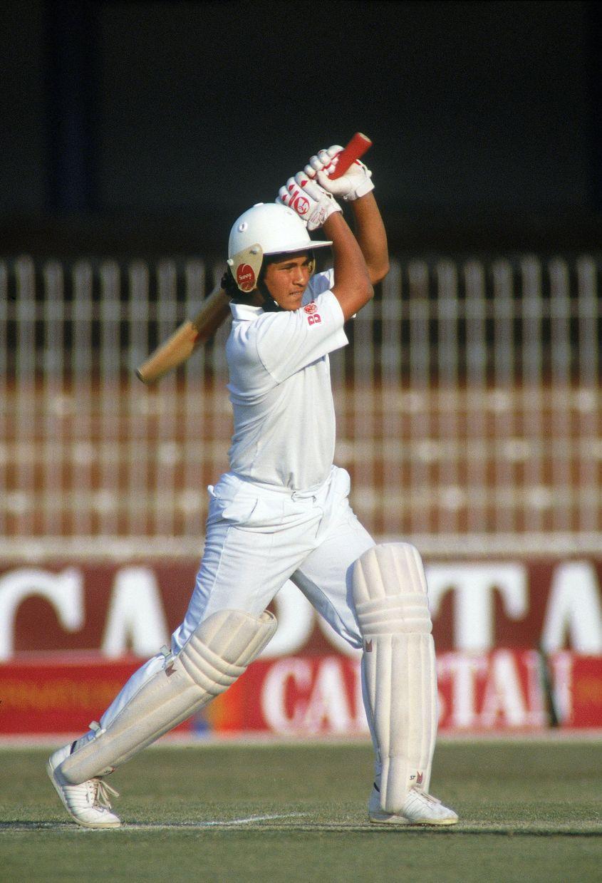Tendulkar in his first Test series against Pakistan.