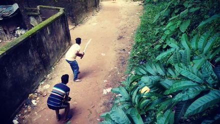 No stumps gully cricket. Photo credit: Najmul Huda. Location: Cox's bazar, Chittagong, Bangladesh