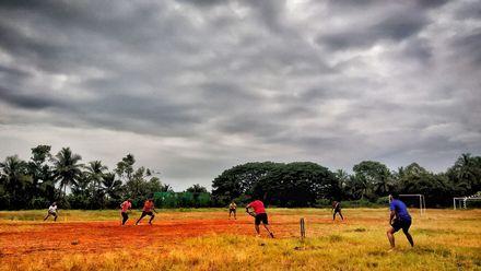 Good cloud cover for the bowlers! Photo credit: Bazim Ashraf. Location: Palakkad, Kerala, India